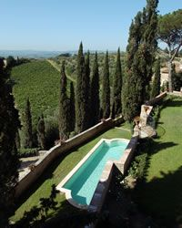 Villa Castelfiorentino holiday villa with swimming pool Chianti, near Florence, Tuscany